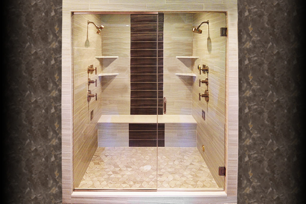 Summit Swing Series Frameless Heavy Glass Shower Enclosure