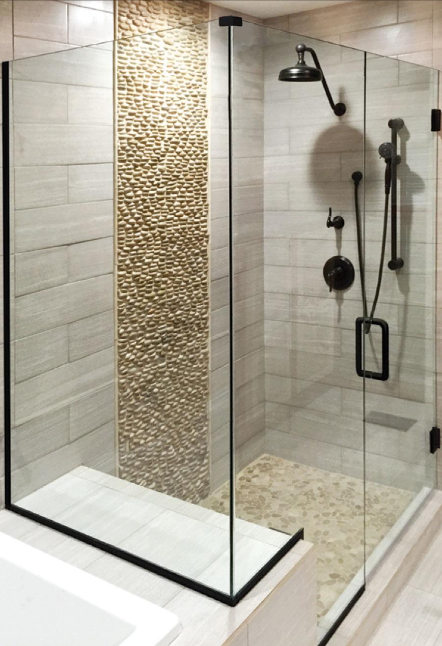Summit Swing Heavy Glass Frameless Shower